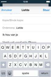 Apple iPhone 4S iOS 8 - E-mail - hoe te versturen - Stap 8