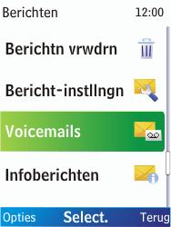 Nokia X2-00 - Voicemail - Handmatig instellen - Stap 5