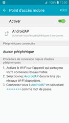 Samsung Galaxy S6 - Internet et connexion - Partager votre connexion en Wi-Fi - Étape 12