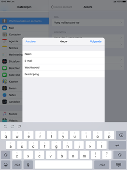 Apple ipad-pro-10-5-inch-ios-12 - E-mail - Account instellen (IMAP met SMTP-verificatie) - Stap 9