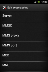 Sony ST23i Xperia Miro - Mms - Manual configuration - Step 10