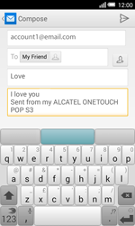 Alcatel Pop S3 (OT-5050X) - E-mail - Sending emails - Step 10
