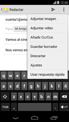 Motorola Moto X (2ª Gen) - E-mail - Escribir y enviar un correo electrónico - Paso 10