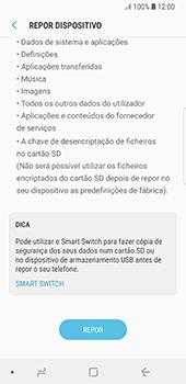 Samsung Galaxy S8 - Android Oreo - Repor definições - Como repor definições de fábrica do telemóvel -  8