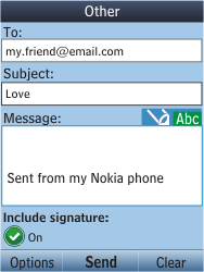 Nokia C2-05 - E-mail - Sending emails - Step 10