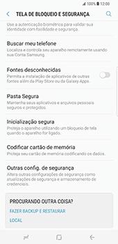 Samsung Galaxy S8 Plus - Segurança - Como ativar o código PIN do cartão de telemóvel -  5