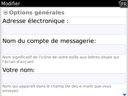 BlackBerry 9780 Bold - E-mail - Configuration manuelle - Étape 11