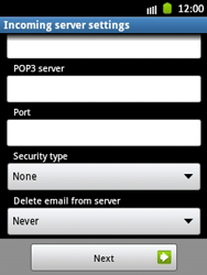 Samsung S5300 Galaxy Pocket - E-mail - Manual configuration - Step 9