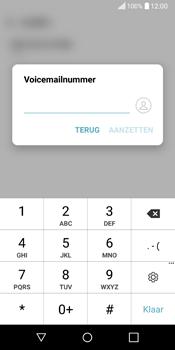 LG Q6 (LG M700n) - Voicemail - Handmatig instellen - Stap 7