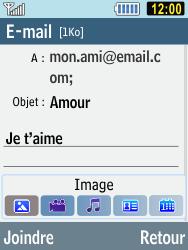 Samsung C3590 - E-mails - Envoyer un e-mail - Étape 8