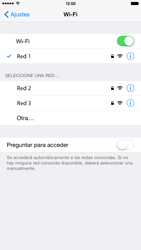 Apple iPhone 6 Plus iOS 8 - WiFi - Conectarse a una red WiFi - Paso 7