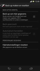 Sony Xperia Z 4G (C6603) - Instellingen aanpassen - Fabrieksinstellingen terugzetten - Stap 5