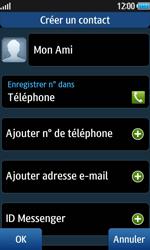 Samsung Wave 2 - Contact, Appels, SMS/MMS - Ajouter un contact - Étape 6