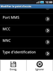 Samsung S5570 Galaxy Mini - Internet - configuration manuelle - Étape 12