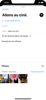 Apple iPhone XR - iOS 13 - E-mail - envoyer un e-mail - Étape 10