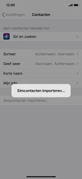Apple iphone-xs-met-ios-13-model-a1920 - Contacten en data - Contacten kopiëren van SIM naar toestel - Stap 5