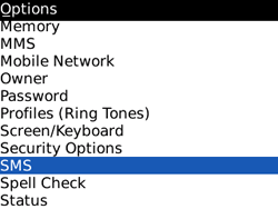 BlackBerry 8520 Curve - SMS - Manual configuration - Step 4