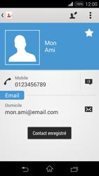 Sony Xpéria E3 - Contact, Appels, SMS/MMS - Ajouter un contact - Étape 14