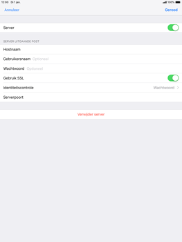 Apple ipad-air-10-5-inch-2019-model-a2123 - E-mail - Account instellen (POP3 zonder SMTP-verificatie) - Stap 18