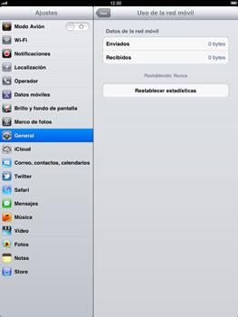 Apple iPad 2 - Internet - Ver uso de datos - Paso 6