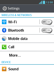 LG E430 Optimus L3 II - Internet - Enable or disable - Step 4