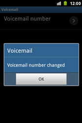Samsung S7500 Galaxy Ace Plus - Voicemail - Manual configuration - Step 8