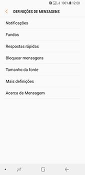 Samsung Galaxy A8 (2018) - SMS - Como configurar o centro de mensagens -  6
