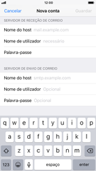 Apple iPhone 6s - iOS 12 - Email - Configurar a conta de Email -  13