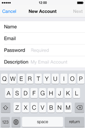 Apple iPhone 4 S iOS 7 - E-mail - Manual configuration - Step 9