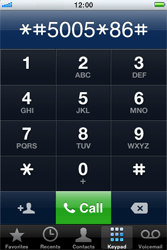 Apple iPhone 4 - Voicemail - Manual configuration - Step 4