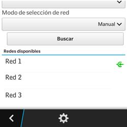 BlackBerry Q5 - Red - Seleccionar una red - Paso 11