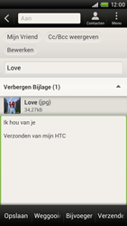 HTC S720e One X - E-mail - e-mail versturen - Stap 13