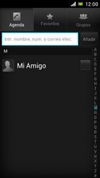 Sony Xperia J - Mensajería - Escribir y enviar un mensaje multimedia - Paso 6