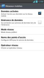 LG Optimus F5 - Internet et connexion - Désactiver la connexion Internet - Étape 6