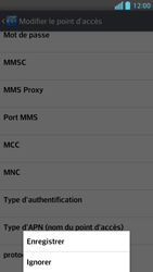 LG P875 Optimus F5 - MMS - configuration manuelle - Étape 17