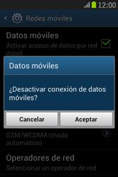 Samsung S6310 Galaxy Young - Internet - Activar o desactivar la conexión de datos - Paso 7
