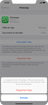 Apple iPhone XR - Applications - Supprimer une application - Étape 7