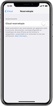 Apple iPhone X - Instellingen aanpassen - Back-up maken in je account - Stap 11