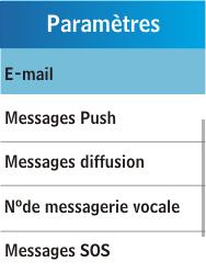 Samsung C3300K - E-mail - Configuration manuelle - Étape 5