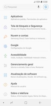 Samsung Galaxy S9 - Funções básicas - Como restaurar as configurações originais do seu aparelho - Etapa 6