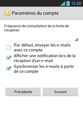 LG E610 Optimus L5 - E-mail - Configurer l