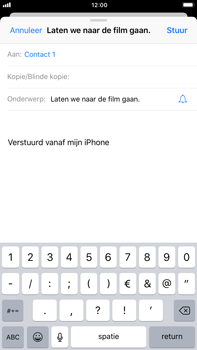 Apple iPhone 6 Plus iOS 11 - E-mail - E-mail versturen - Stap 7