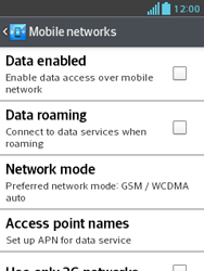 LG E430 Optimus L3 II - Internet - Enable or disable - Step 8