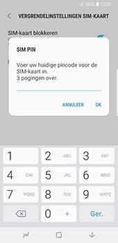 Samsung Galaxy S8 - Android Oreo (SM-G950F) - Beveiliging en ouderlijk toezicht - Hoe wijzig ik mijn SIM PIN-code - Stap 8