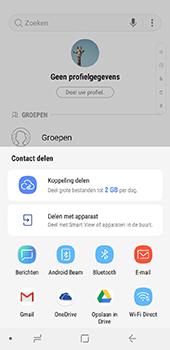 Samsung Galaxy A6 - Contactgegevens overzetten - delen via Bluetooth - Stap 8