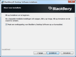 BlackBerry 9300 Curve 3G - Software - Synchroniseer met PC - Stap 10