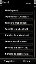 Nokia E7-00 - E-mail - Configuration manuelle - Étape 11