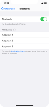 Apple iPhone XS - iOS 13 - Bluetooth - koppelen met ander apparaat - Stap 7