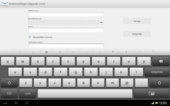 Sony SGP321 Xperia Tablet Z LTE - E-mail - e-mail instellen: IMAP (aanbevolen) - Stap 13