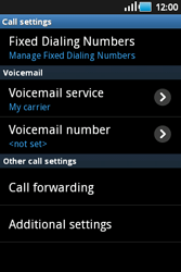 Samsung S5660 Galaxy Gio - Voicemail - Manual configuration - Step 5